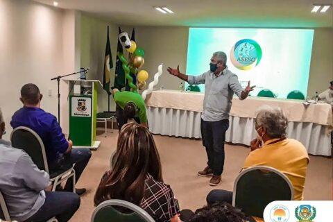 O Secretário de Esporte, Idelbrando Rocha participou de uma reunião com Associação dos Secretários (Asesc) e falou dos projetos desenvolvidos em Quixeramobim
