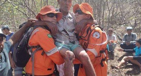 Corpo de Bombeiros encontra idoso de 89 anos em mata fechada de Canindé