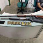 CPRaio da PMCE apreende espingardas e munições no município de Madalena