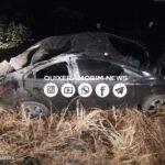 Advogado da cidade de Quixeramobim capota veículo na CE-166/265 estrada que liga Quixeramobim a Madalena